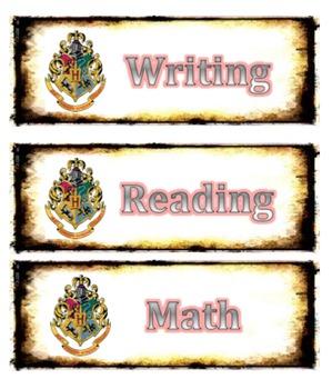 Harry Potter Schedule Cards (Editable)