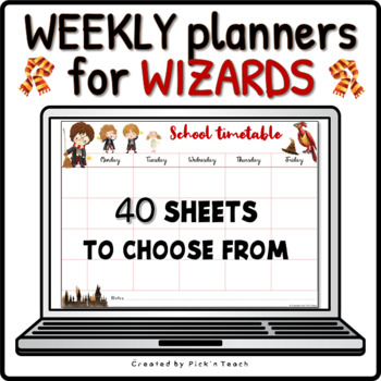 Harry Potter School timetable