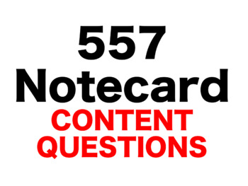 Harry Potter Sorcerer's Stone 557 Content Questions Whiteboard Game