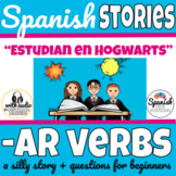 Spanish AR verbs story with audio (distance learning)