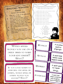 Harry Potter Spell Themed ELA Activities