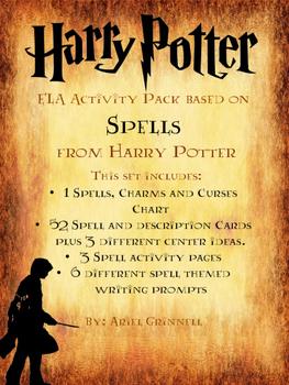 Harry Potter Spell Themed ELA Activities