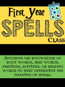 Harry Potter Spells Class - Root Words, Base Words, Prefix, Suffix Practice