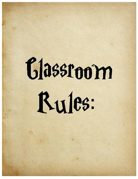 Harry Potter Style Classroom Rules