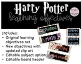 UPDATED! Harry Potter Learning Objectives