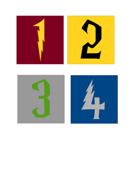 Harry Potter Table - Group Numbers