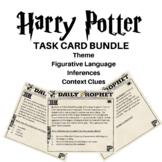 Harry Potter Task Card BUNDLE (Theme,Context Clues,Figurat