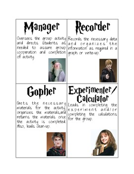 Harry Potter Task Cards