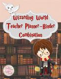 Wizard Teacher Planner and Binder Combination