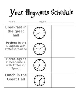 Harry Potter Telling Time