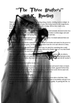 """Harry Potter, """"The Deathly Hallows"""", J.K. Rowling: Elements of a Short Story"""