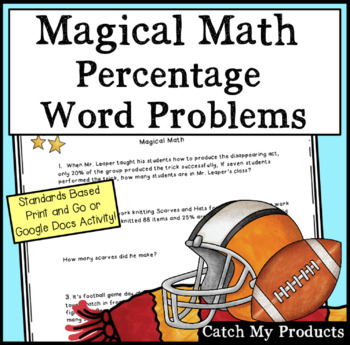 Math Word Problems : Harry Potter & The Order of the Phoenix  (Percentages)