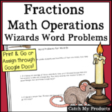 Harry Potter Word Problem Worksheet