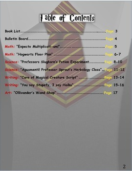 Harry Potter Thematic Unit