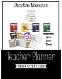 Harry Potter Theme 2019/20 USA Teacher Planner and Gradebook Bundle.  Editable