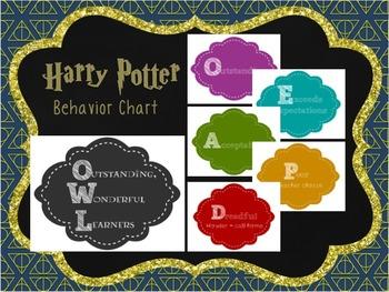 Harry Potter Theme - Behavior Chart