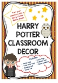 Harry Potter Theme Classroom Decor