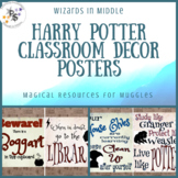 Harry Potter Theme Classroom Decor Posters