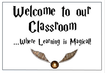 Harry Potter Theme Classroom Welcome
