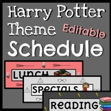 Harry Potter Theme Schedule Cards //// Editable