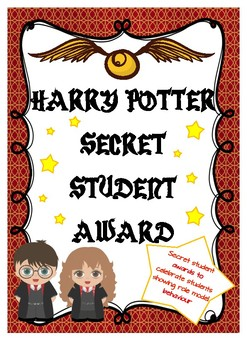 Harry Potter Theme Secret Student Award