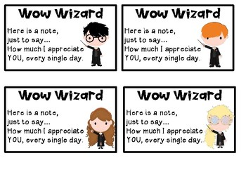 Harry Potter Theme Student Brag Tag Wow Wizard, Gift End of Term Incentive