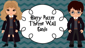 Harry Potter Theme Wall Cards