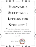 Harry Potter Themed Acceptance Letter for Students