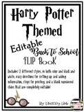 Harry Potter Themed Back to School Flip Book