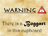 Harry Potter Themed - Boggart Sign
