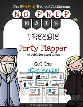 Harry Potter Themed Classroom -  Forty Flapper Addition Card Game