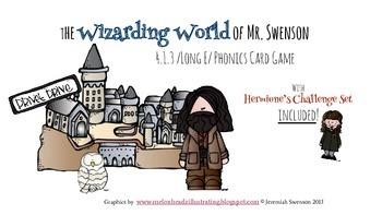 Harry Potter Themed Classroom - 4.1.3. /Long E/ Phonics Card Game
