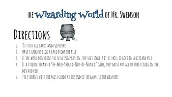 Harry Potter Themed Classroom - 4.2.1. Words with /ch/ Phonics Card Game