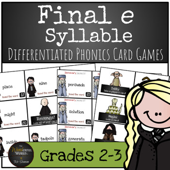 Harry Potter Themed Classroom - Final e Syllable Phonics Card Game