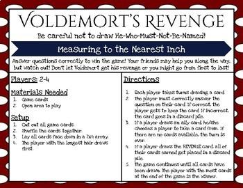 Harry Potter Themed Classroom - Voldemort's Revenge Nearest Inch Game