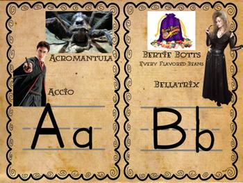 Harry Potter Themed Classroom Alphabet