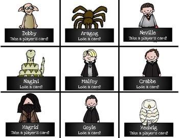 Harry Potter Themed Classroom - Bossy R - /er/ /ir/ /ur/ Phonics Card Game