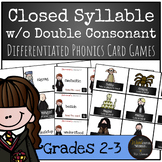 Harry Potter Themed Classroom - Closed Syllable words without Double Consonant