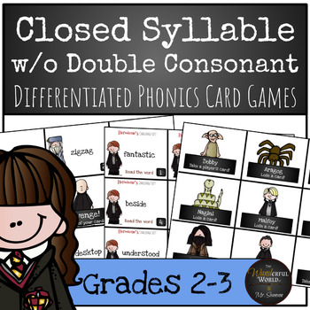 Harry Potter Themed Classroom - Closed Syllable words with