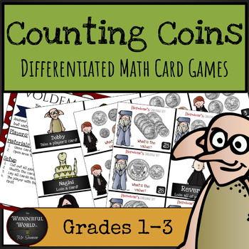 Harry Potter Themed Classroom - Counting Coins Differentiated Card Game
