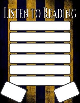 Harry Potter Themed Classroom - Daily 5 Aligned Anchor Charts