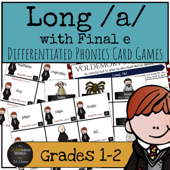 Harry Potter Themed Classroom - Long A w/ Final E Phonics Card Games