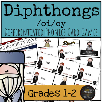 Harry Potter Themed Classroom - Diphthongs /oi/oy/ Phonics Card Games