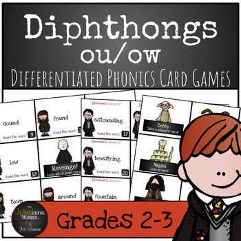 Harry Potter Themed Classroom - Dipthong 'OU' 'OW'  Card Game