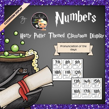 Harry Potter Themed Classroom Display -  Numbers