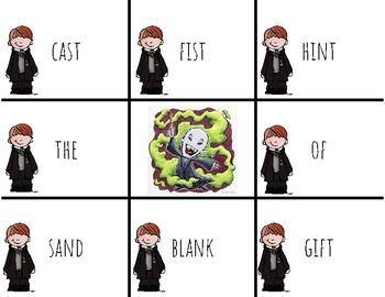 Harry Potter Themed Classroom - Grade 1-Final Consonant Blends Phonics Card Game