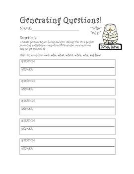 Harry Potter Themed Classroom - Generating Questions