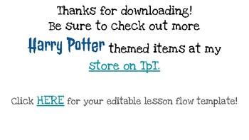 Harry Potter Themed Classroom - Google Slides Lesson Flow Template Grades 1-12