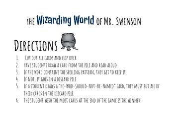 Harry Potter Themed Classroom - Grade 1 -Bossy R /ar/ Phonics Card Game