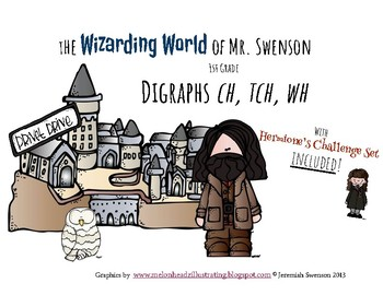 Harry Potter Themed Classroom - Grade 1 -Digraphs ch/tch/wh Phonics Card Game
